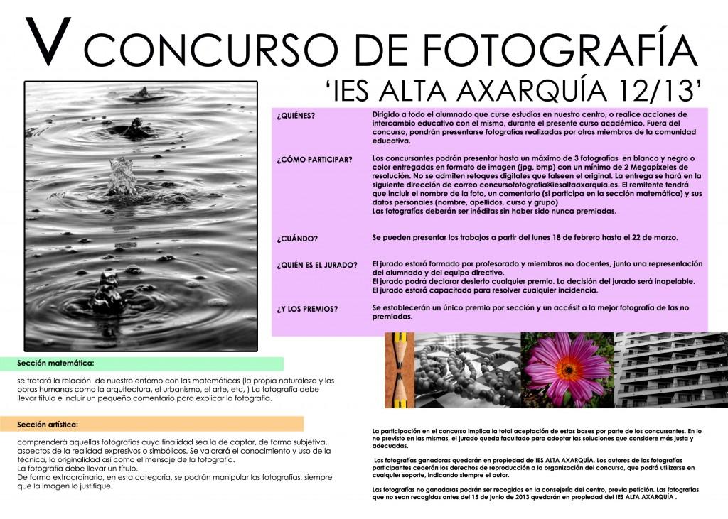 Cartel foto concurso