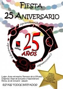 cartel fiesta 25 aniversario