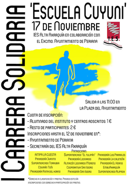 Cartel I carrera solidaria 2